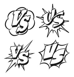 Black and white vs letters patches vector
