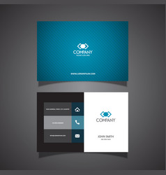 Modern business card vector