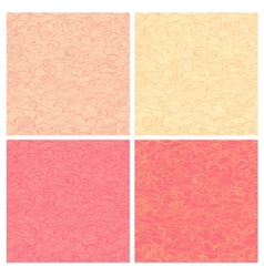 Set of beautiful wavy seamless patterns vector image
