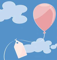 pink balloon vector image