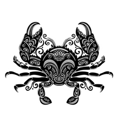 Ornate sea crab vector