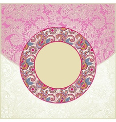 Pink ornamental cirkle floral pattern vector image