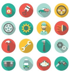 Car service flat icons vector