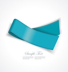 Realistic blue silk ribbon vector