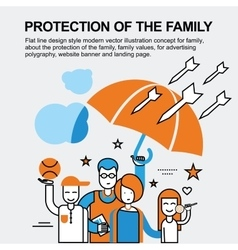 Protection of the family concept vector