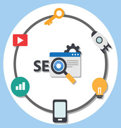 Search engine optimization advice and tools vector