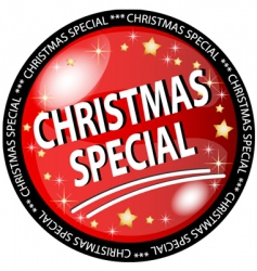 Christmas special button vector