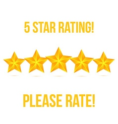 Five star isolated on white background rating vector