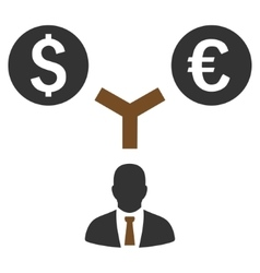 Currency management flat icon vector