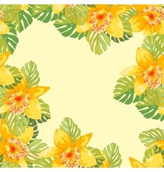 Seamless pattern of exotic flowers vector