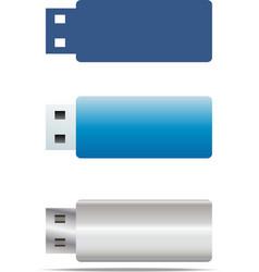 Usb flash icons set vector
