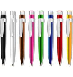 Souvenir color pens set vector