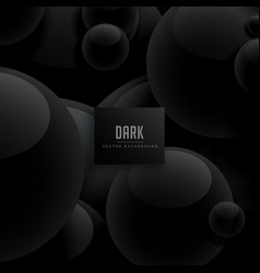 Abstract circles dark black background vector