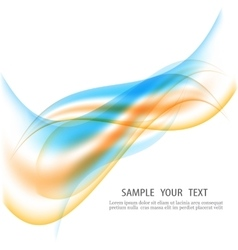 Abstract motion smooth color wave curve vector