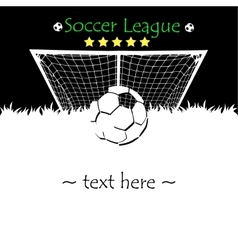 Abstract soccer background vector image