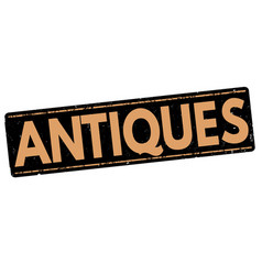 antiques stamp vector image