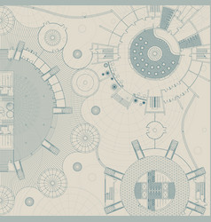 architectural and engeneering background vector image vector image