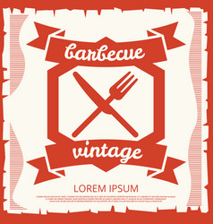 Barbecue party vintage poster design with emblem vector