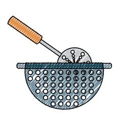 bowl drained vector image vector image