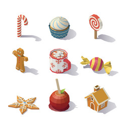 christmas sweets and pastries vector image