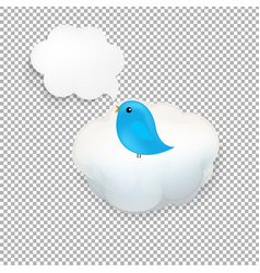 cloud icon with bird vector image vector image