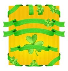 Decorative Ribbons Shamrock vector image