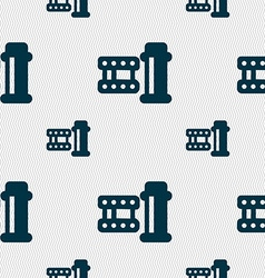 film Icon sign Seamless pattern with geometric vector image