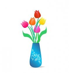 floral vase vector image