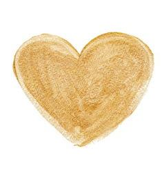 Gold acrylic heart Hand drawn vector image