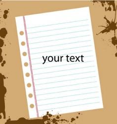 grunge textpaper vector image