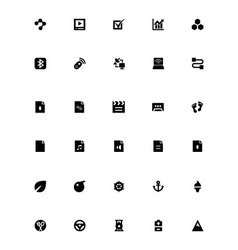 Mini Icons 32 vector image