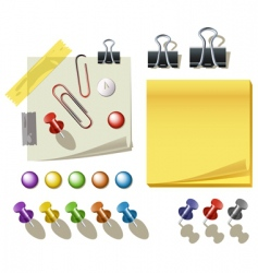 pin and clips vector image vector image