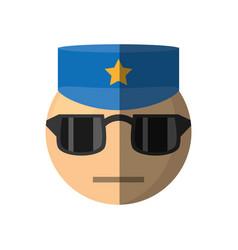 policeman emoticon cartoon design vector image