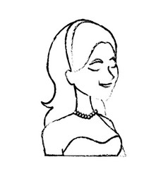 portrait happy smiling bride woman character vector image vector image