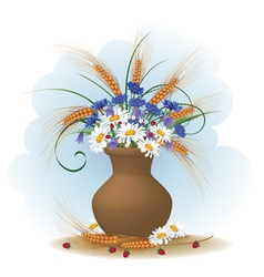 posy of flowers vector image