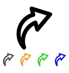 Redo stroke icon vector