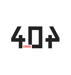 simple 404 error sign vector image