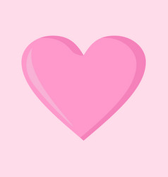 Simple love heart pink graphic vector
