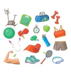 Sports Accessories Set vector image vector image