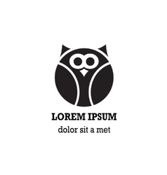 Stylized owl on white background vector image vector image