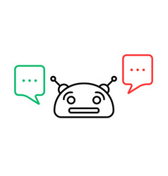 Thin line chatbot with chatter box vector