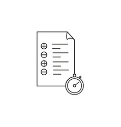 timed tasks icon vector image