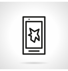 Touch phone repair service simple line icon vector