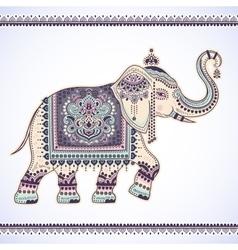 Vintage graphic indian lotus ethnic vector