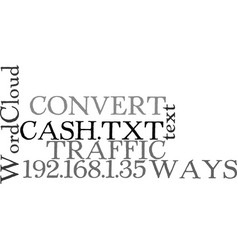 Ways to convert your traffic into cash text word vector
