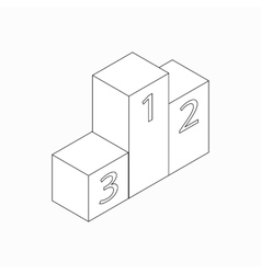 Winners podium icon isometric 3d style vector