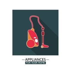 Electronic appliances for home design vector