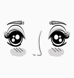 anime beauty woman face vector image