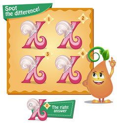 Spot the difference letters x vector