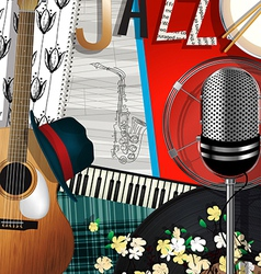 Collage jazz vector